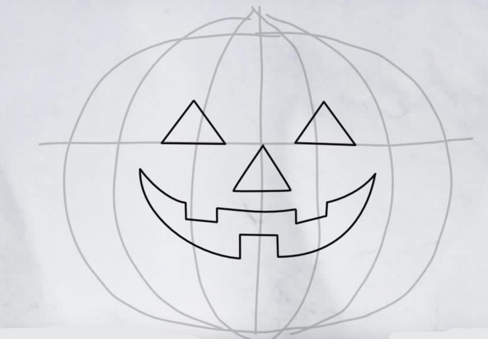 Картинки тыквы на хэллоуин как нарисовать